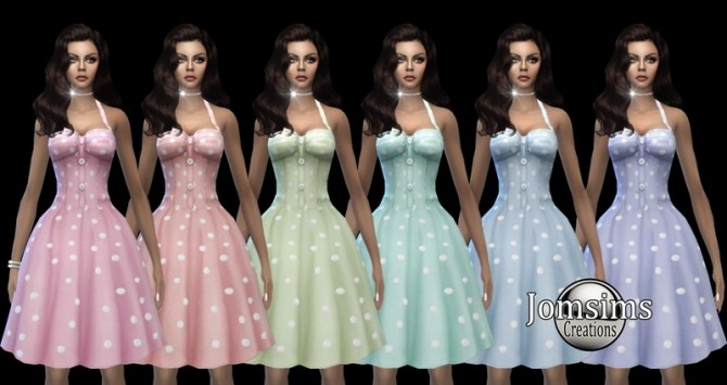 Sims 4 Miss yissi dress at Jomsims Creations