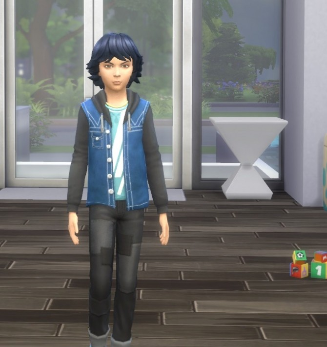 Sims 4 Kid's Fuzzy Hair at Birksches Sims Blog
