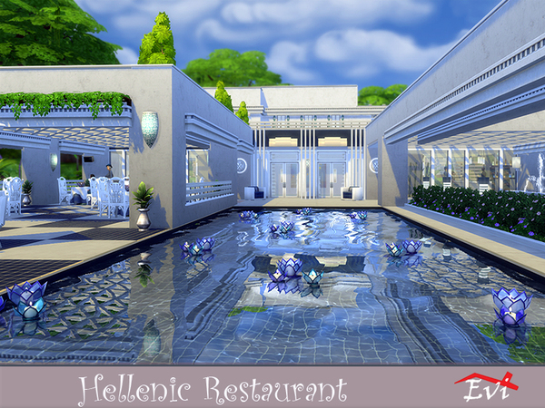 Hellenic Restaurant by evi at TSR image 1316 Sims 4 Updates