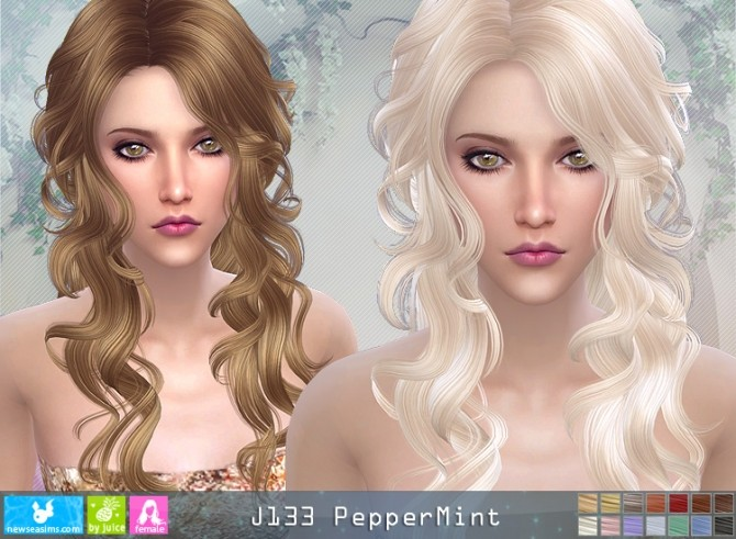 J133 PepperMint hair (pay) at Newsea Sims 4 image 1327 670x491 Sims 4 Updates