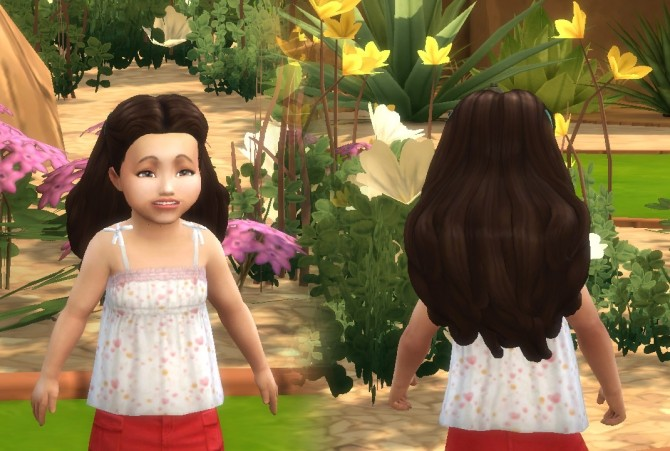Sims 4 Dream Curls for Toddlers at My Stuff