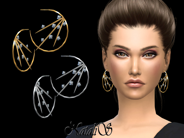 Spiked Hoop Earrings by NataliS at TSR image 1333 Sims 4 Updates