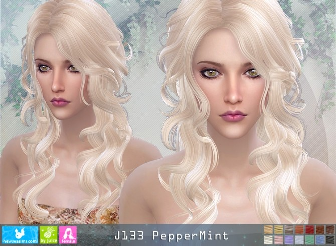 J133 PepperMint hair (pay) at Newsea Sims 4 image 1336 670x491 Sims 4 Updates