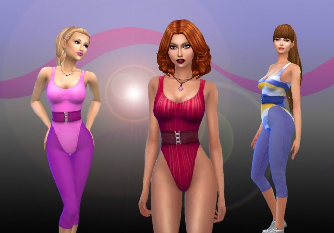 Sims 4 80s Aerobic Clothes at My Stuff