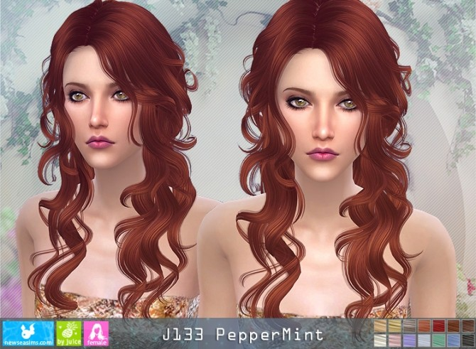 J133 PepperMint hair (pay) at Newsea Sims 4 image 1356 670x491 Sims 4 Updates