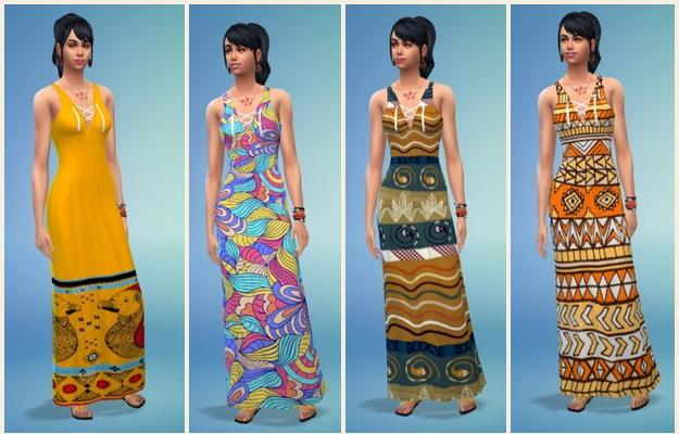 Sims 4 Indian Summer Dress at Birksches Sims Blog