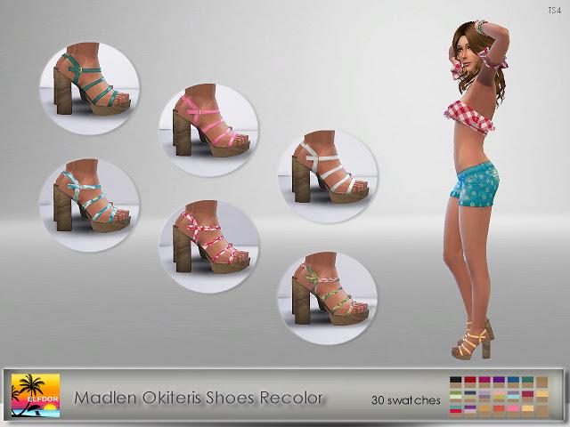 Sims 4 Madlen Okiteris Shoes Recolor at Elfdor Sims