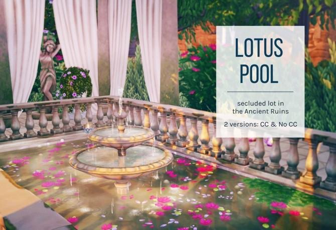 Lotus Pool CC & No CC Versions at Femmeonamissionsims image 1388 670x460 Sims 4 Updates