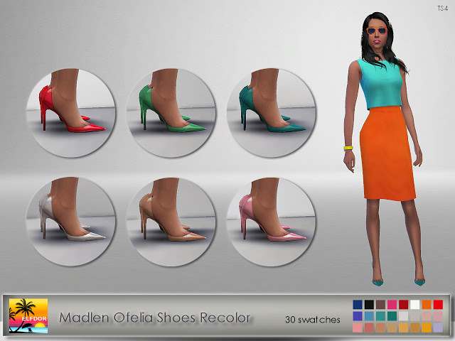 Madlen Ofelia Shoes Recolor at Elfdor Sims image 139 Sims 4 Updates