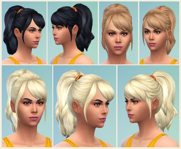 Sims 4 Meriana Ponytail at Birksches Sims Blog