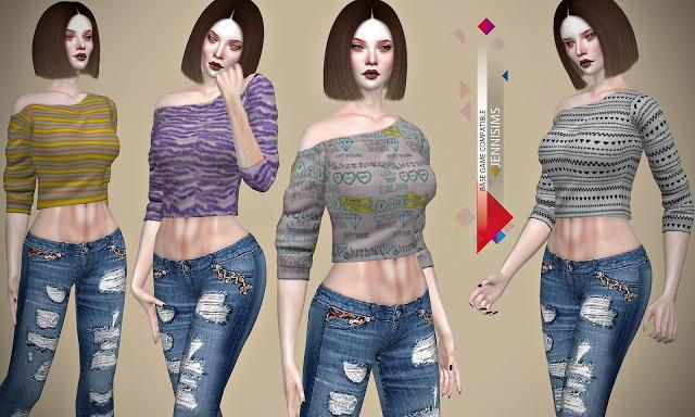 Base Game compatible Top at Jenni Sims image 1396 Sims 4 Updates