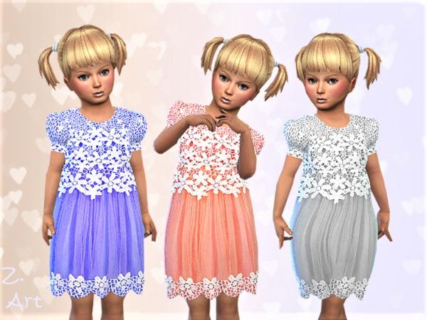 Sims 4 BabeZ 19 chiffon dress by Zuckerschnute20 at TSR