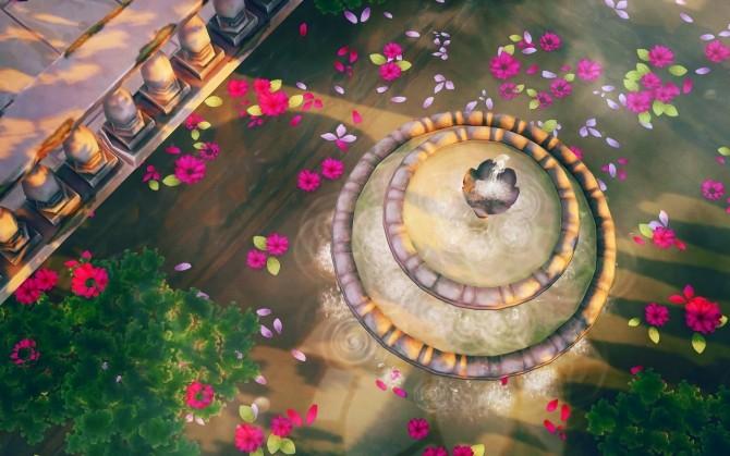 Sims 4 Lotus Pool CC & No CC Versions at Femmeonamissionsims