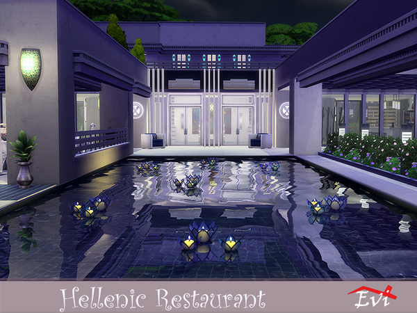 Hellenic Restaurant by evi at TSR image 1415 Sims 4 Updates