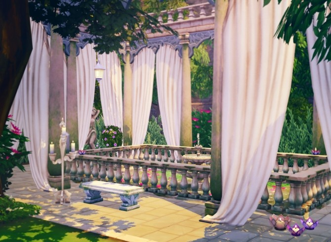 Lotus Pool CC & No CC Versions at Femmeonamissionsims image 142101 670x489 Sims 4 Updates