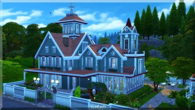 Sims 4 Victorian House No.2 at JarkaD Sims 4 Blog
