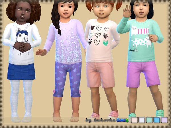 Sims 4 Sweater for Toddler by bukovka at TSR