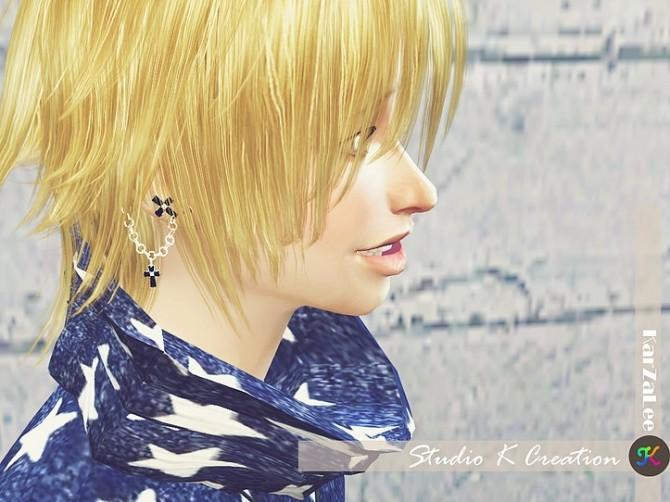 Sims 4 Cross chain earring at Studio K Creation