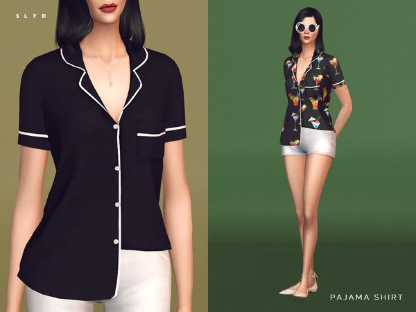 Pajama Shirt by SLYD at TSR image 1443 Sims 4 Updates