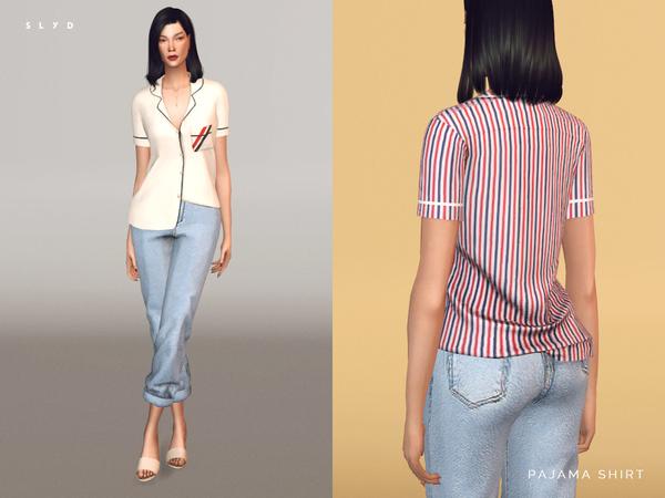 Pajama Shirt by SLYD at TSR image 1452 Sims 4 Updates