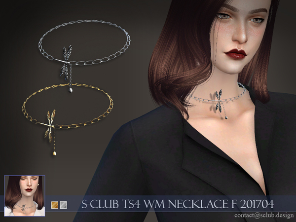 Sims 4 Necklace F 201704 by S Club WM at TSR
