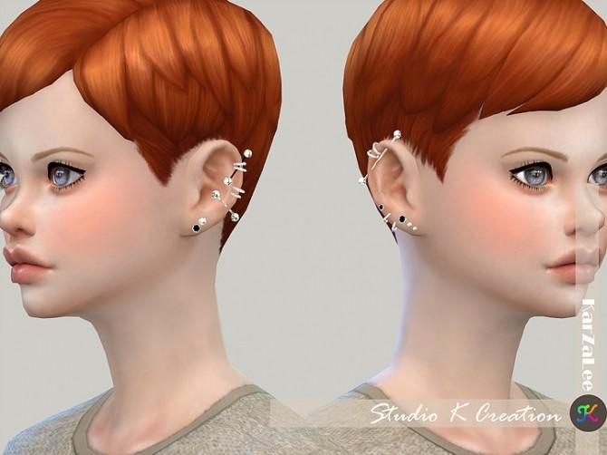 Industrial piercing 01 at Studio K Creation image 1479 670x502 Sims 4 Updates