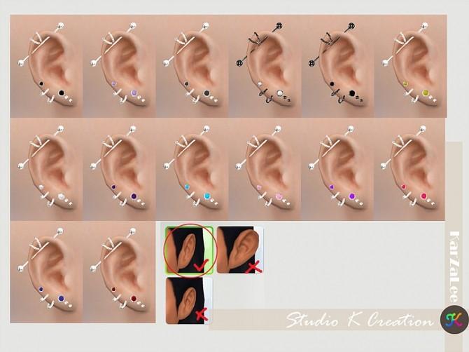 Industrial piercing 01 at Studio K Creation image 14810 670x502 Sims 4 Updates
