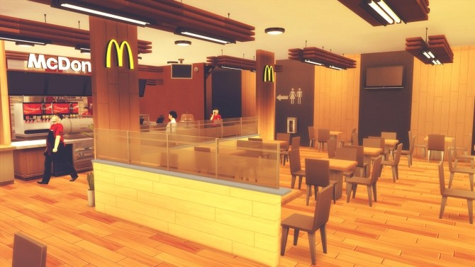 McDonald's Restaurant #3 at RomerJon17 Productions image 1511 670x377 Sims 4 Updates