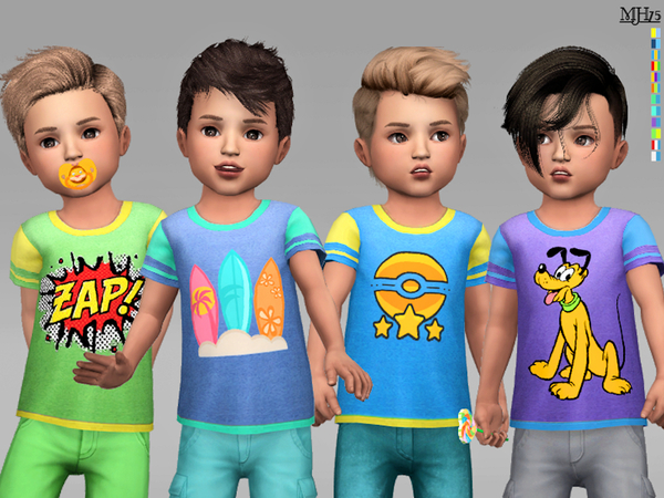 Cool Boy Toddler Tees by Margeh 75 at TSR image 1515 Sims 4 Updates
