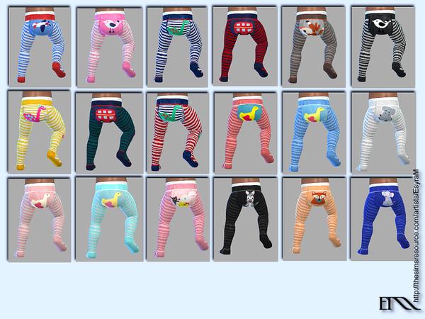 Sims 4 Cute cotton thights by EsyraM at TSR