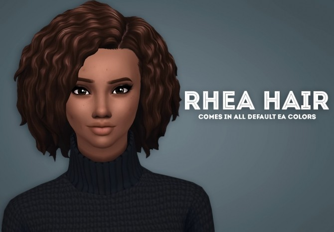 Sims 4 Rhea Hair at Ivo Sims