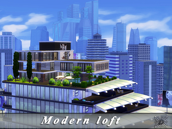 Sims 4 Modern Loft by Danuta720 at TSR