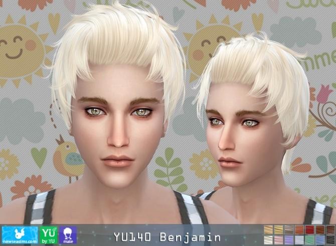 Sims 4 YU140 Benjamin hair (Pay) at Newsea Sims 4