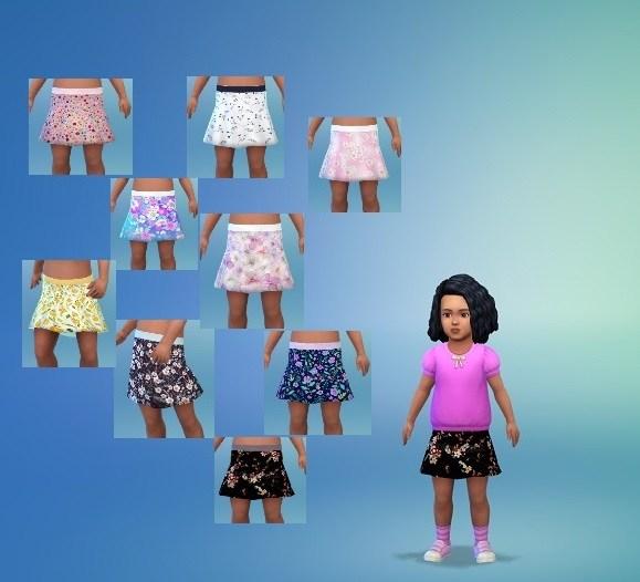 Sims 4 Toddler's Moment Skirt at Birksches Sims Blog