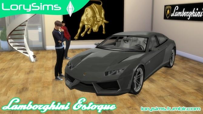 Lamborghini Estoque Concept at LorySims image 1604 670x377 Sims 4 Updates