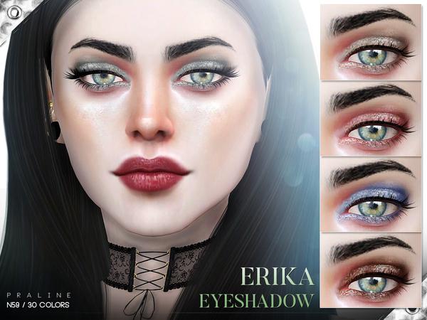 Sims 4 Erika Eyeshadow N59 by Pralinesims at TSR