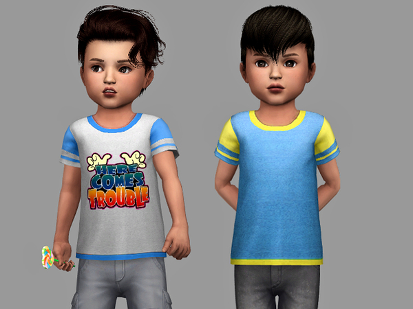 Cool Boy Toddler Tees by Margeh 75 at TSR image 1614 Sims 4 Updates