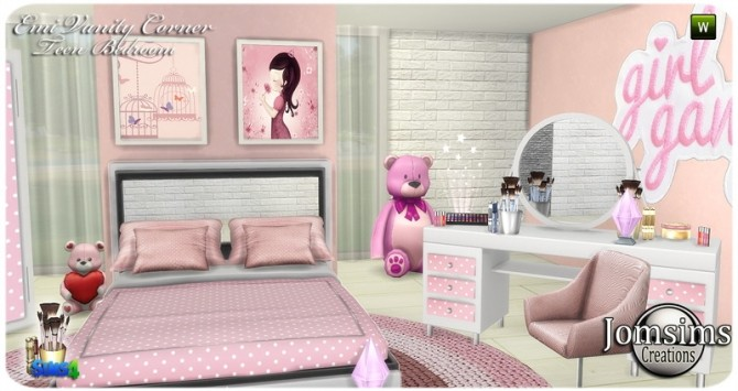 Emi vanity corner bedroom at Jomsims Creations image 16210 670x355 Sims 4 Updates