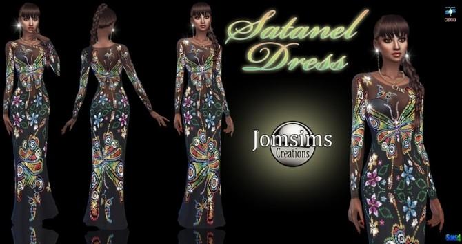 Sims 4 Satanel dress at Jomsims Creations