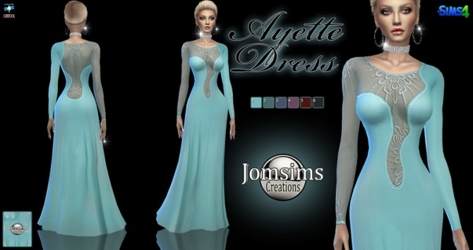 Sims 4 Ayette dress at Jomsims Creations