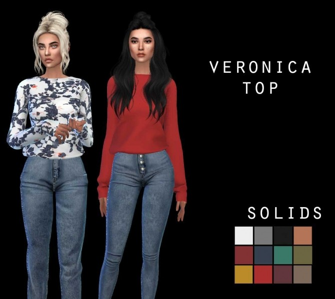 Sims 4 Veronica Top at Leo Sims