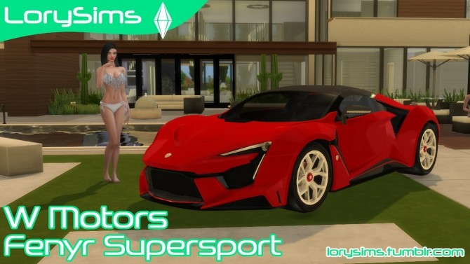 Sims 4 W Motors Fenyr Supersport at LorySims