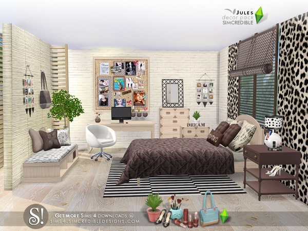 Sims 4 Jules decor pack by SIMcredible at TSR