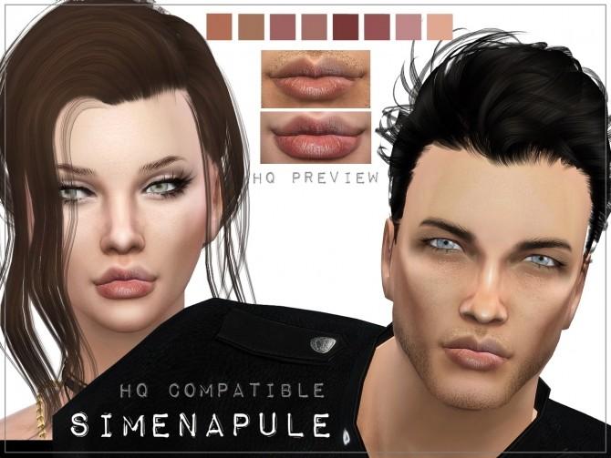 Sims 4 Natural Lips 02 by Ronja at Simenapule