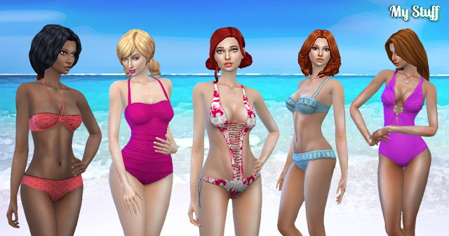 Sims 4 Female Swimwear Pack at My Stuff