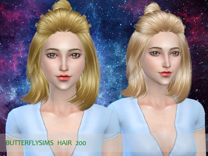 B fly hair 200 (Pay) by YOYO at Butterfly Sims image 17114 670x503 Sims 4 Updates