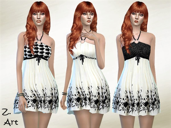 Summer 17 01 dress by Zuckerschnute20 at TSR image 1720 Sims 4 Updates