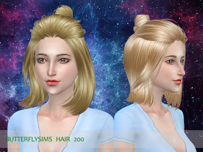 B fly hair 200 (Pay) by YOYO at Butterfly Sims image 17211 670x503 Sims 4 Updates