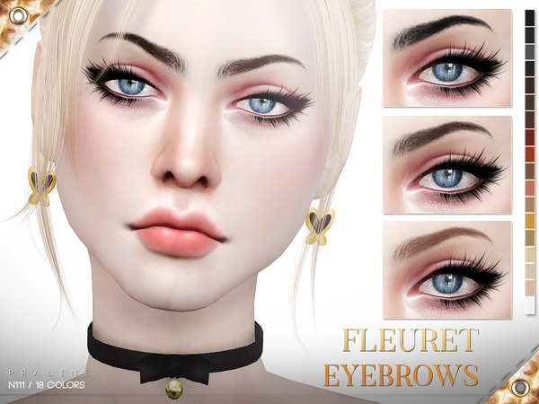 Fleuret Eyebrows N111 by Pralinesims at TSR image 1723 Sims 4 Updates