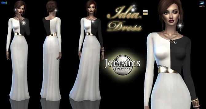 Sims 4 Idia dress at Jomsims Creations